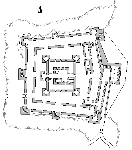 Plan of Belvoir Castle (Israel), Licensed under CC BY-SA 3.0 via Commons, wikimedia.org